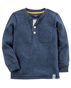 Carters Blue Charters Blue Boys Long Sleeve Chambray Button-Front Shirt 18M