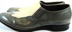 Stacy Adams Men Wingtip Leafers Shoes Size 13 D Gray.  KAK 8 #StacyAdams #LoafersSlipOns