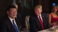 """""""We had a long discussion already. So far, I have gotten nothing. Absolutely nothing,"""" jokes Donald J. Trump on his first meeting with Xi Jinping.   (Video: The White House)"""
