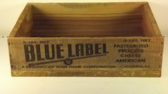 Blue Lable Cheese CratePersonalized. by GWCcakepans on Etsy, $25.00