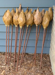 Broomsticks today!     Of all the takeaways at Emily's Harry Potter party , these broomsticks were by far the most challenging to c...