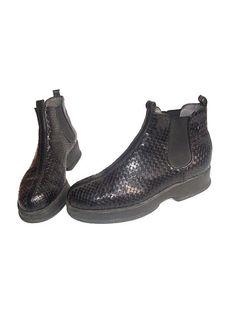 90s french designer PLATFORMS ankle boots stephane by lesclodettes, $110.00