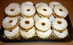 Linzer recept fotóval Bagel, Doughnut, Cupcake, Chips, Bread, Cookies, Desserts, Food, Crack Crackers