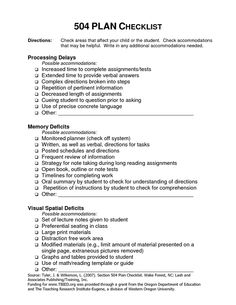 Download sample 504 plan for a child with adhd 504 plan adhd 504 plan checklist by fionan pronofoot35fo Gallery