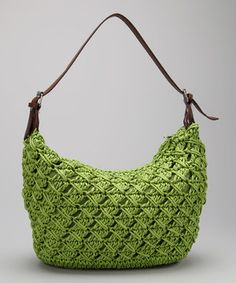 Straw Studios Lime Woven Straw Flexible Shoulder Bag by Straw Studios #zulily #zulilyfinds