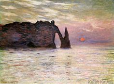 Claude Monet - Falaise d'Etretat, 1883