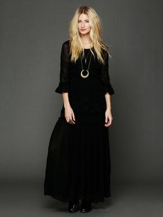 Free People White Romance Embroidered Maxi at Free People Clothing Boutique