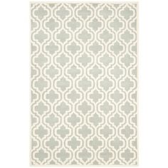 $212 Safavieh Handmade Moroccan Chatham Gray/ Ivory Wool Area Rug (5' x 8') | Overstock.com Shopping - Great Deals on Safavieh 5x8 - 6x9 Rugs