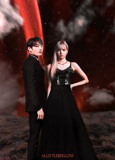 BTS BLACKPINK SHIP FANART JUNGKOOK LISA Liskook by kpopfanartjam.deviantart.com on @DeviantArt