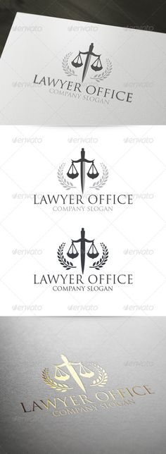 Lawyer Office Logo Template. A great vector logo for law and justice related business. The logo is fully vector and you can use it for both print and web. Click the image or web url to preview and download the logo.