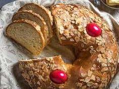 Γαλατερό ή αυγοκούλουρο τα πασχαλινό ψωμί της Κρήτης Banana Bread, French Toast, Breakfast, Desserts, Food, Morning Coffee, Tailgate Desserts, Deserts, Essen