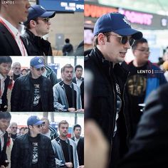 @ChrisEvansPH: More of Chris Evans at the airport awhile ago leaving Korea, April 7, 2014. Sad the beard is gone. #ChrisEvans #Chris #Evans #Cevans #TeamCevans #CaptainAmerica #Perfection #Christopher