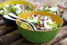 Green Salad mit Parmesansalatcreme Rezept