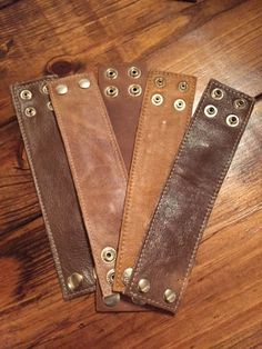 Misc Brown Leather Cuffs
