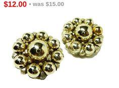 Pre Holiday Sale !!! Goldtone Bead Earrings - #Vintage Designer Signed Lisner offered by TheJewelSeeker  These clip on earrings are signed Lisner on the clips.  They are des... #teamlove #vintage #jewelry #thejewelseeker