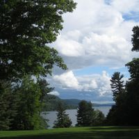 View of Otsego Lake from Hyde Hall.  from Schoolfieldountryhouse.com