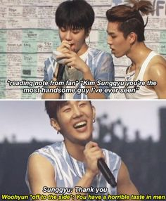 Woohyun is jealous