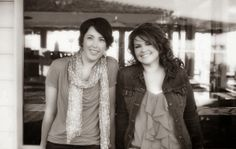The authors known as Christina Lauren.  (Lauren Billings and Christina Hobbs)