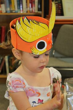 Ages 3-5. Upside Down Lorax Hat