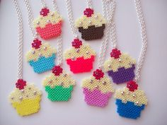 Cupcakes perler beads by The Crafty Kitty