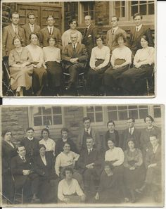 Two vintage RP postcards of staff at Willowtown School, Ebbw Vale in Collectables, Postcards, Topographical: British   eBay