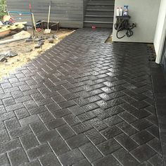PatiO-MG! This is an amazing patio in the works using Cambridge Pavingstones with Armortec thanks to King Landscape Design.