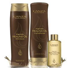 Keratin Healing Oil - L'ANZA Healing Haircare My TOP FAVE!!! AMAZING products shown here. I use them and love them sooo much. the oil detangles, helps hair dry faster, shiny, smooth... and the fragrance from all 3 products... DIVINE! - JJ