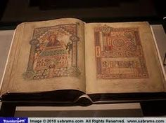 Book of Kells, Trinity College Library, Dublin, Ireland--really a book to admire.  It is really  beautiful and shouldn't be missed while in Dublin.