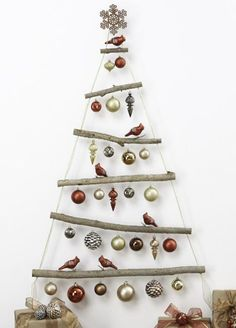 A rustic, minimalist Christmas tree. Such a simple and stylish DIY for the holidays. Get the instructions.