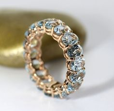 Catawiki online auction house: Eternity ring with blue topaz - in total ct - May 25 2019 at Diamond Jewelry, Silver Jewelry, Silver Ring, Baby Jewelry, Tiffany Jewelry, Silver Bracelets, Gold Jewellery, Silver Earrings, Jewelry Accessories