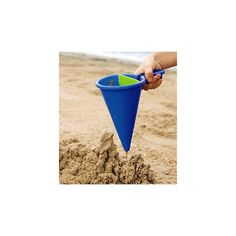 Innovative 2-sided spilling funnel sand toy from HABA -- great kids' toy for the beach or sandbox! #magiccabin #summer #beach #sand