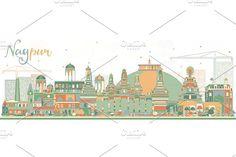 #Abstract #Nagpur #Skyline by Igor Sorokin on @creativemarket