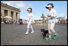 Piazza di Corte, Ariccia -  Foto Giovanna Ciacchi Schermidori vanno al flashmob