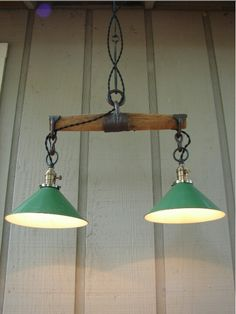 Antique harness yoke made into rustic lighting.