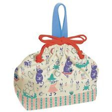 SKATER Moomin Valley Lunch Box Bento Bag Drawstring Handbag JAPAN