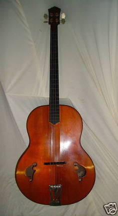 Beautiful acoustic bass guitar made by the late Jacques Favino