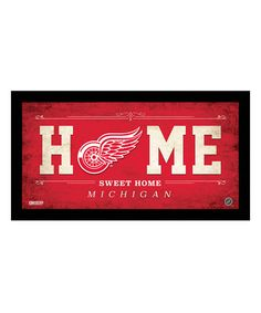 Detroit Red Wings 'Home Sweet Home' Sign #zulily #zulilyfinds
