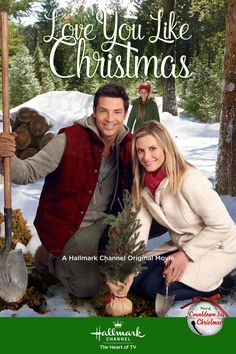 "Its a Wonderful Movie - Your Guide to Family Movies on TV: 'Love You Like Christmas' - a Hallmark Channel Original ""Countdown to Christmas"" Movie starring Brennan Elliott & Bonnie Somerville! Hallmark Channel, Películas Hallmark, Films Hallmark, Hallmark Holiday Movies, Christmas Movies On Tv, Christmas Poster, Hallmark Holidays, High School Musical, Bonnie Somerville"