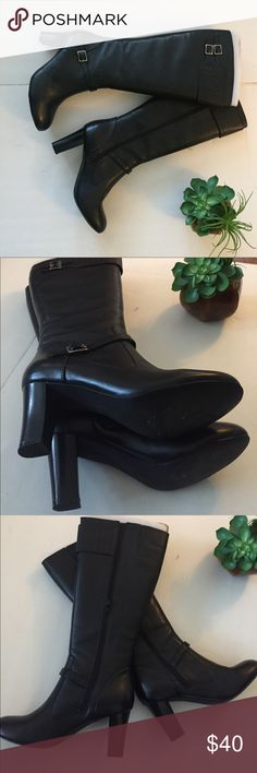 92b8eb87ef3e CHAPS Black Leather croc Lady s boots
