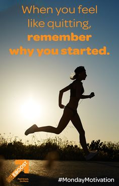 When you feel like quitting, remember why you started. Tell us why YOU started. Feel Like, Feeling Great, How Are You Feeling, Inspiration For The Day, Fitness Inspiration, Healthy Energy Drinks, Remember Why You Started, Natural Energy, Just Run