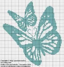 -butterflies-papillons-point de croix-cross stitch-embroidery-monochrome