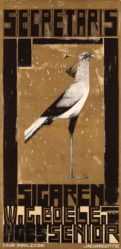 Art Nouveau, Vintage Posters, Craftsman, Arts And Crafts, Graphic Design, Bird, Painting, Netherlands, Dutch