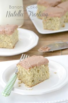 Banana Cake with Nutella Frosting - Yum!