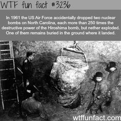Two atomic bombs dropped over North Carolina -  WTF fun facts