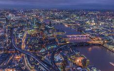 Download wallpapers London, 4k, nightscapes, United Kingdom, Thames River, UK, England