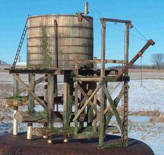 backwoods water tank - Google Search Garden Railroad, Model Train Layouts, Water Tower, Water Tank, Model Trains, Towers, Diorama, Tanks, Scenery
