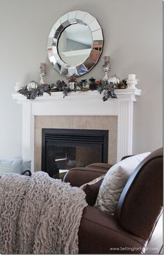 Glam Fall Mantel from Setting for Four