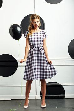 Pretty in Plaid Dress B&W by Shabby Apple