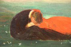 A Kiss on the Grass (Detail)   -    Wojciech Weiss , 1900  Polish, 1875-1950