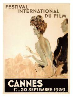 Festival International du Film, Cannes, 1939 Giclee Print by Jean-Gabriel Domergue on AllPosters.it